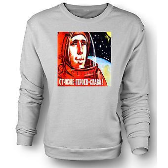 Womens Sweatshirt Yuri Gagarin - Russian Cosmonaut