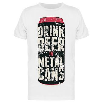 Drink bier in metalen blikjes citeer Tee mannen ' s-afbeelding door Shutterstock