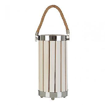 Premier Home Brooke tafel lamp, hout, hennep touw, wit