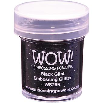 Wow! Embossing Powder 15Ml Black Glint Wow Ws28r