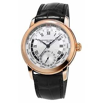 Frederique Constant Manufacture Worldtimer Alligator Strap Rose Gold Plated FC-718MC4H4 Watch