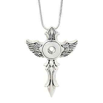 Stainless steel necklace with pendant for mini click buttons