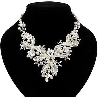 Swarovski Kristall & Süßwasser Perlen Ohrringe & Collier-Set