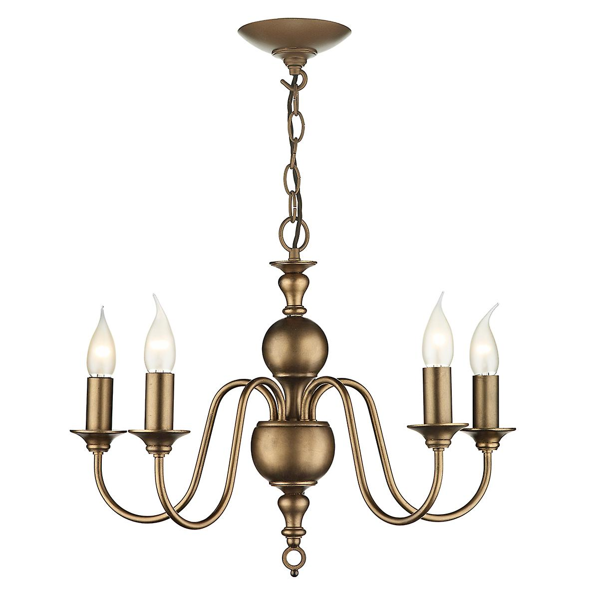 David Hunt FLE0563 Flemish Traditional 5 Light Pendant In A Bronze Finish