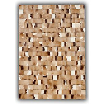 Rugs -Patchwork Leather Cubed Hide - Springbok Pieces