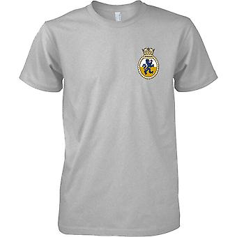 HMS Shoreham - actual buque de la Armada Real t-shirt color