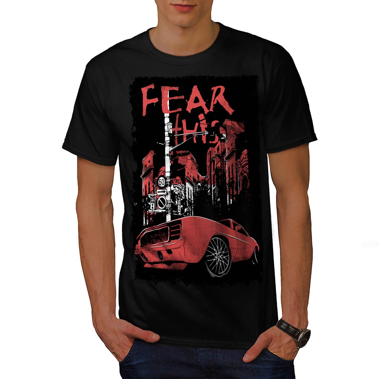 Fear This Mustang Art Car Men Black T-shirt | Wellcoda