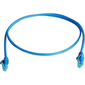 RJ49 Networks Cable CAT 6 U/UTP 5 m Blue Flame-retardant, Halogen-free Telegärtner
