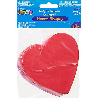 Foam Shapes 12/Pkg-Hearts 106-1118