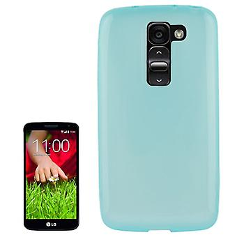 Protective case for mobile LG Optimus G2 / D802 blue / turquoise