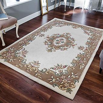 Royal Aubusson Wool Rugs In Cream Beige