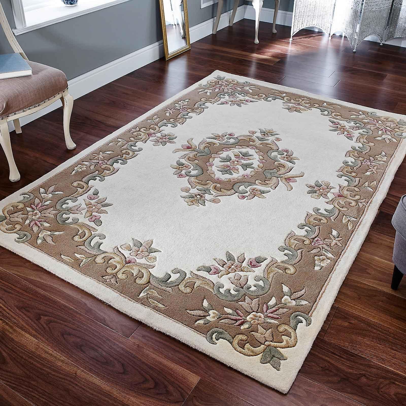 Tappeti di lana Royal Aubusson In crema Beige