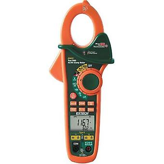 Current clamp, Handheld multimeter digital Extech EX623 Calibrated to: Manufacturer standards IR thermometer CAT III 600