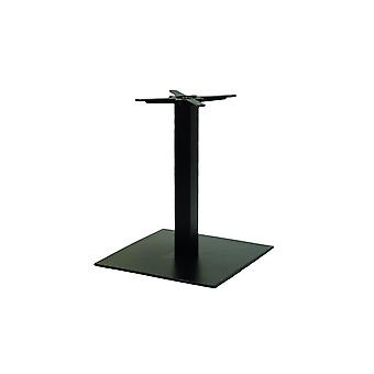 Gorzan Black Dining Table Base Cast Iron Square Slimline Flat Base