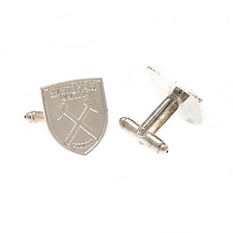 West Ham United Silver Plated Cufflinks CR