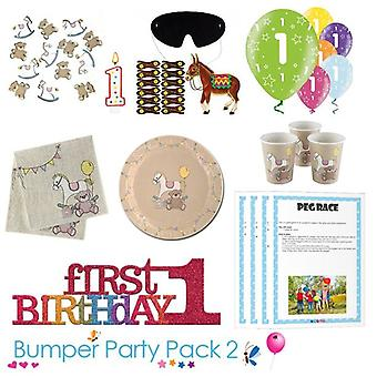 Rock A Bye 1st Birthday Party Tableware Bumper Pack 2