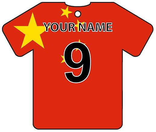 Personalised China Flag Jersey Car Air Freshener