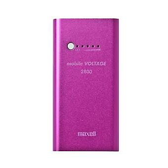 Maxell Recargeable Portable Powerbank ideal for SmartPhones - Pink - 2800mAh.