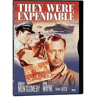 They Were Expendable [DVD] USA import