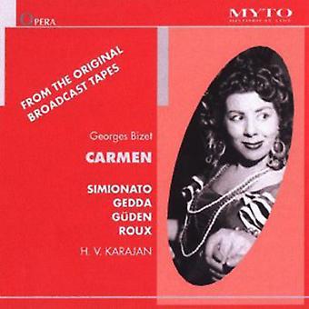 Bizet / Simionato / Gedda / Gudenåen / Roux / Karajan - Carmen [CD] USA import