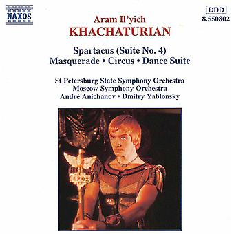 A. Chatschaturjan - Chatschaturjan: Spartacus Suite Nr. 4; Maquerade; Zirkus; Tanzsuite [CD] USA importieren