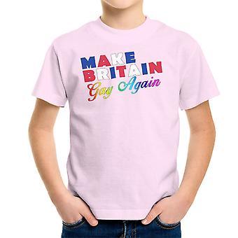 Dokonać Wielkiej Brytanii Gay ponownie LGBTQ duma dziecko T-Shirt