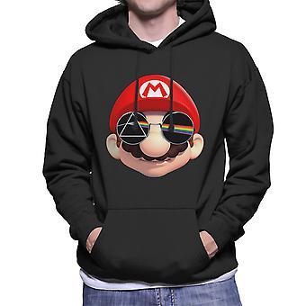 Lado negro dos homens Super Mario está com capuz moletom