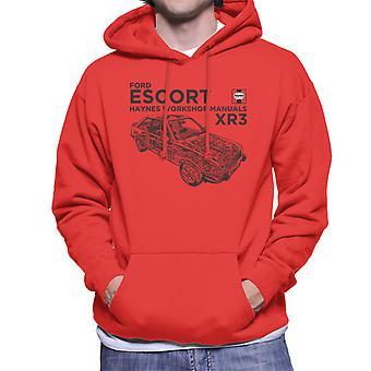 Haynes Owners Workshop Manual Ford Escort Black Men's Hooded Sweatshirt