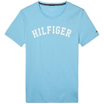 Tommy Hilfiger Organic Cotton Short Sleeved Crew Neck T-Shirt, Bachelor Button Blue, X-Large