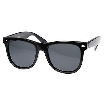 Large 55mm Polarized Lens Anti Glare Classic Horn Rimmed Style Sunglasses