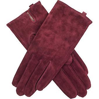 Dents Emily Plain Suede Gloves - Claret Red
