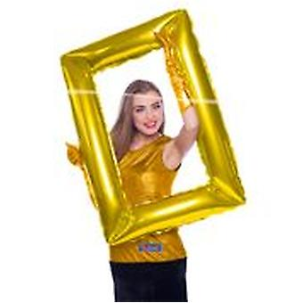 inflatable picture frame Selfie frame gold 85 x 60 cm wedding decoration
