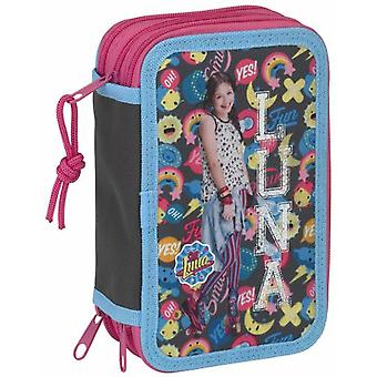Safta Plumier Triple 36 Piezas Soy Luna Athletic (Toys , School Zone , Pencil Case)