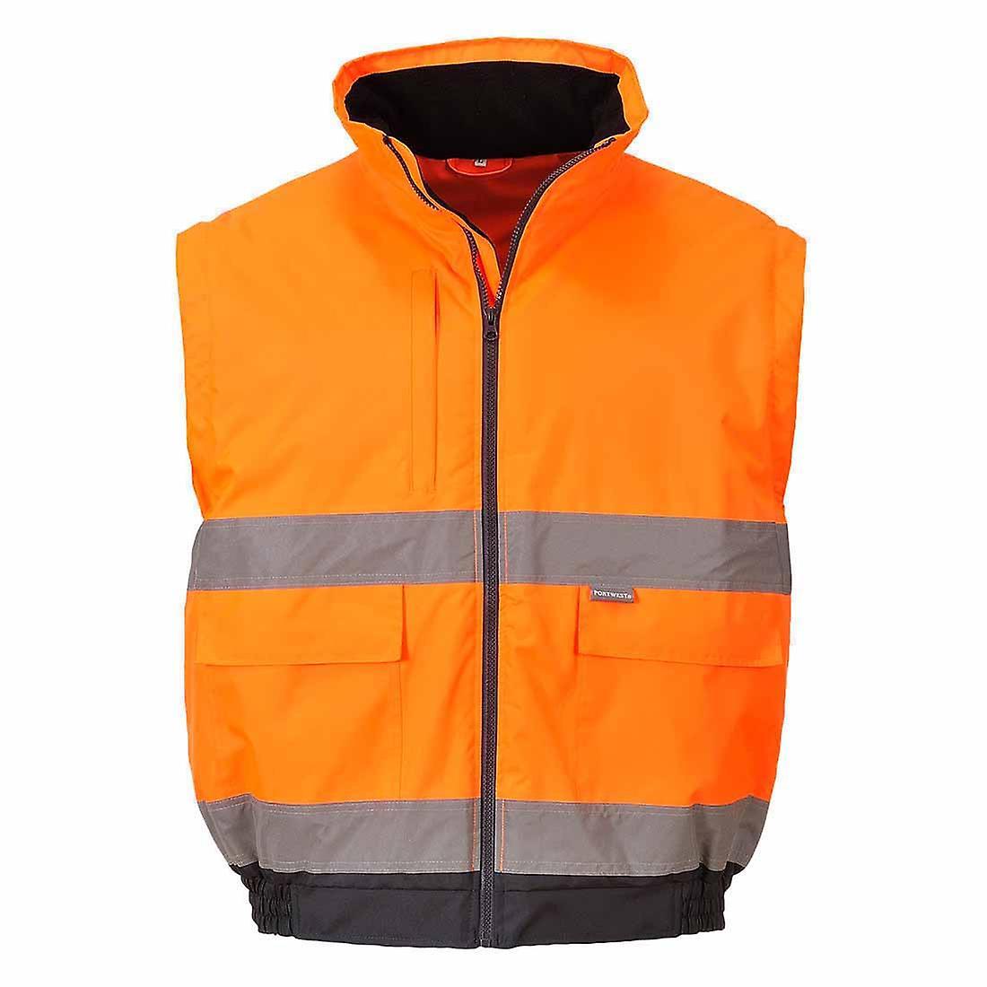 SUw - veste vêtehommests de travail de sécurité Hi-Vis 2-en-1