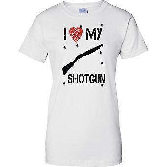 Jeg elsker min hagle - infanteri FIBUA våpen - damer T skjorte