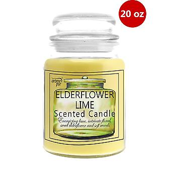 1 x Arome Pur 20 Oz Elderflower Lime Scented Candle