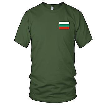 Flaga narodowa Bułgarii bułgarski kraju - haftowane Logo - 100% bawełna T-Shirt Panie T Shirt