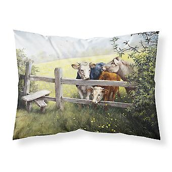 Cows in a Buttercup Meadow Fabric Standard Pillowcase