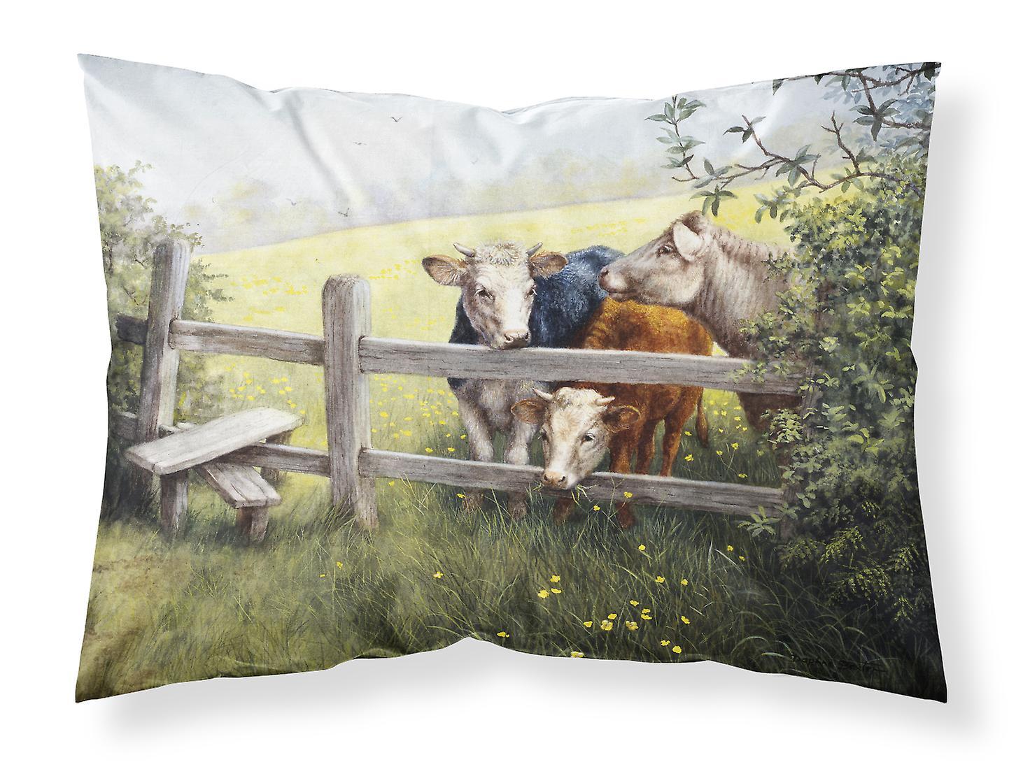 Tissu D'oreiller Meadow Taie Une Standard Vaches Dans Renoncule m0NO8vnw