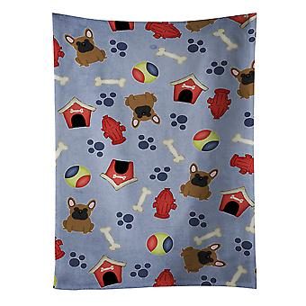 Dog House Collection French Bulldog Brown Kitchen Towel