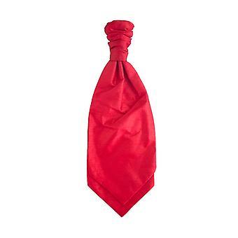 Bright Red Ruche Tie