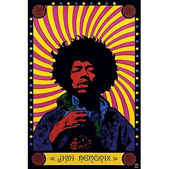 Jimi Hendrix Psychadelic Poster Print (24 x 36)