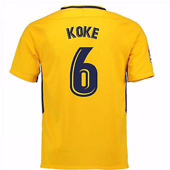 2017-18 Atletico Madrid Away skjorta (Koke 6)