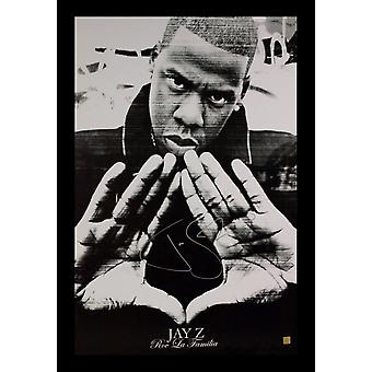 Jay-Z Signed Poster