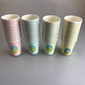 Paper Tumblers Pack of 80 Disposable Party Tableware Polka Dot Drinks Cups Bello