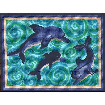 Dea's Dolphins Needlepoint Canvas