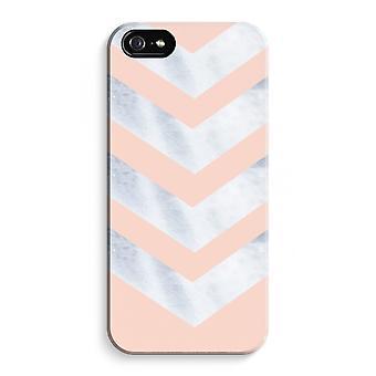 iPhone 5 / 5S / SE volledige Print geval (Glossy) - marmer pijlen