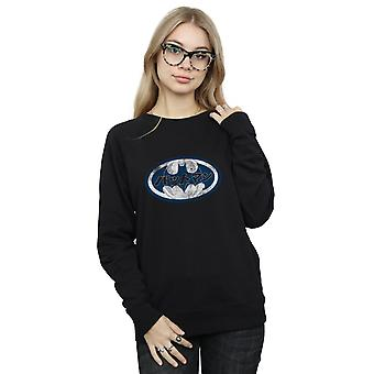 DC Comics Women's Batman Japanese Logo White Sweatshirt
