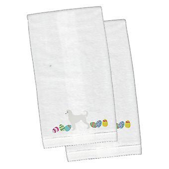 Chart afgański Wielkanoc biały haftowany pluszowe Hand ręcznik zestaw 2