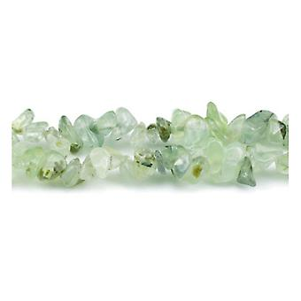 Long Strand 240+ Green Prehnite 5-8mm Chip Beads GS5201